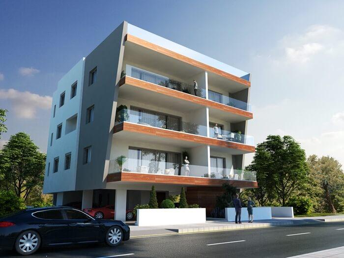 Apartments for sale Latsia - Ourania Facade and Side Facade