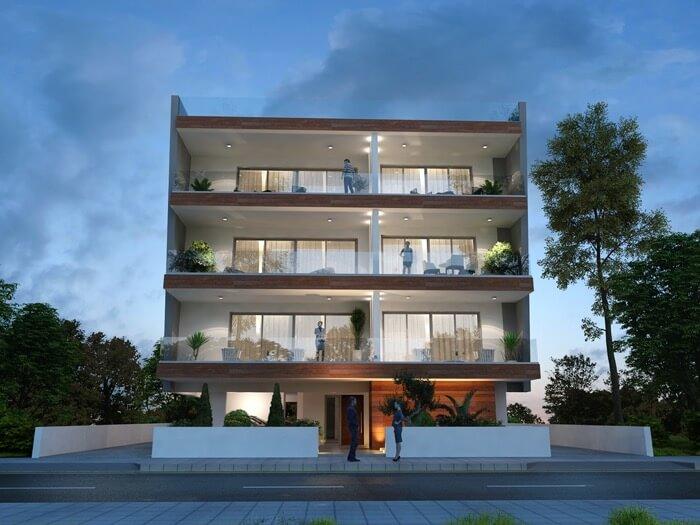 Elpida Apartments Prospective Drawing 1