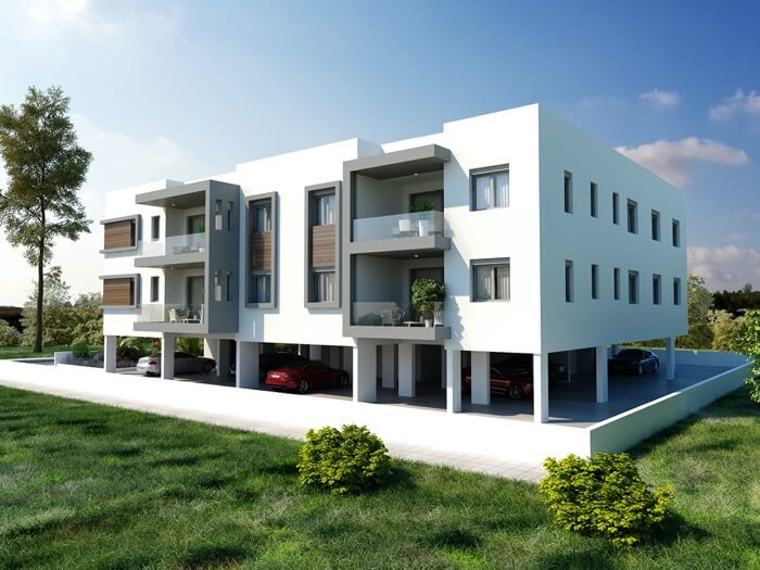 Apartments for sale Latsia - Ourania SIDE and REAR views